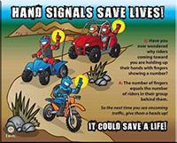 Trails North ATV Club Hand Signals